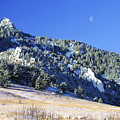 Half Moon Over The Flatirons by Marilyn Hunt