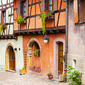 Half-timbered House Of Eguisheim, Alsace, France.  by Marco Arduino
