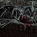 Halfabaskan Sleeping by Ron Bissett