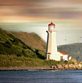 Halifax Harbor Lighthouse by Diana Angstadt