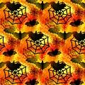 Halloween Abstract - Happy Halloween by Kathleen Sartoris