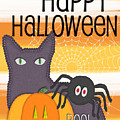 Halloween Friends- Art By Linda Woods by Linda Woods