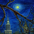 Halloween Night Over New York City by Anna Folkartanna Maciejewska-Dyba