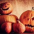 Halloween Pumpkins, Carved Jack-o-lantern. by Michal Bednarek