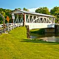 Halls Mill Covered Bridge Landscape by Adam Jewell