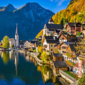 Hallstatt In Fall by JR Photography