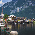 Hallstatt Lakeside Village In Austria by Andy Konieczny