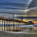 Halo Newport Pier Reflections Orange County California Los Angeles Collection Art by Reid Callaway