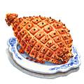 Ham On The Plate by Irina Sztukowski