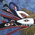 Hamatsa Masks by Elaine Booth-Kallweit