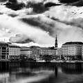 Hamburg At Sunset by Reinhold Silbermann