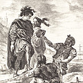 Hamlet And Horatio Before The Gravediggers (act V, Scene I) by Eug?ne Delacroix