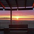 Hampton Beach Sunrise Hampton Beach State Park Hampton Nh Bench 2 by Toby McGuire
