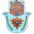 Hamsa 13 by Suzanne Udell Levinger