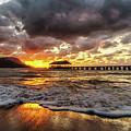 Hanalei Pier Reflections by David Kulp