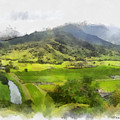 Hanalei Valley by Paulette B Wright