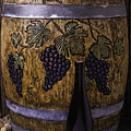 Hand Carved Wine Barrel by Garry Gay
