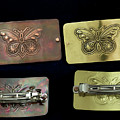 Hand Crafted Hair Barrette With Butterfly Design by Melany Sarafis