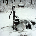 Hand Pump In The Winter by Alice Markham