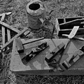 Hand Tool Box Bw by Mark Victors