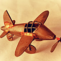 Handmade Metal Toy Plane by Tony Grider