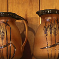 Handmade Pottery Pitchers by Linda Phelps