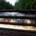 Handrails Tahquamenon Lower Falls Upper Peninsula Michigan 02 by Thomas Woolworth