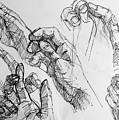 Hands With Line Pen by Elena A