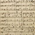 Handwritten Score by Edvard Grieg