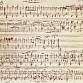 Handwritten Score For Waltz For Piano, Opus 39 by Johannes Brahms