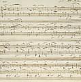 Handwritten Score For Waltz In Flat Major by Frederic Chopin