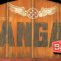 Hangar Bar Entrance Sign by David Lee Thompson