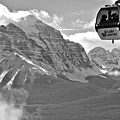 Hanging Above The Canadian Rockies Black And White by Adam Jewell