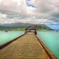 Hanging On The Hanalei Pier by Lynn Bauer