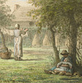 Hanging Out The Laundry By Jean-francois Millet by Adam Asar