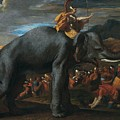 Hannibal Crossing The Alps On Elephants By Nicolas Poussin, 1625-1626. by Adam Asar
