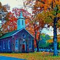 Hanover Church - Fall by Robert Cox