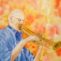 Hanson On Trumpet by Vicki  Housel