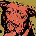Happiness Is The Pits Duo Tone by Dean Russo Art