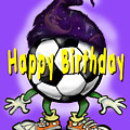 Happy Birthday Soccer Wizard by Kevin Middleton
