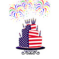 Happy Birthday Usa by Anne Kitzman