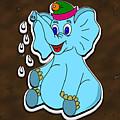 Happy Blue Elephant Gingerbread by Miroslav Nemecek