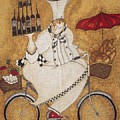 Happy Chef On The Bike by Vesna Antic