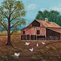 Happy Chickens by Julia Ellis