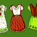 Happy Christmas Dresses by Laurel Foster