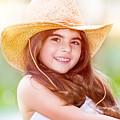 Happy Cute Girl Portrait by Anna Om
