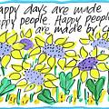 Happy Days W Blue by Sally Huss
