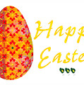Happy Easter Abstract Greeting Card Art By Omaste Witkowski  by Omaste Witkowski