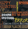 Happy Haunting Typography by Debbie DeWitt