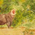 Happy Hippo by Vicki  Housel
